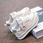 運動鞋 女童鞋新款男童運動鞋兒童鞋子白色中大童小白鞋百搭板鞋 安妮塔小鋪