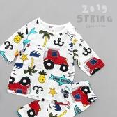 兒童睡衣 新款純棉兒童睡衣7分家居服套裝A類 莎瓦迪卡