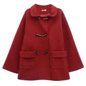 秋冬港風寬鬆中長款毛呢 長袖外套女 11-14 超值價