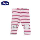 chicco-To Be Baby-內搭條紋貓咪長褲-紅白條