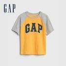 Gap男幼童 布萊納系列 Logo純棉插肩袖短袖T恤 545582-金黃色