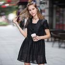 ★韓美姬★中大尺碼~甜美中長款兩件式短袖洋裝(XL~5XL)