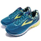 BROOKS 慢跑鞋 Ghost 10 魔鬼系列 十代 藍 黃 DNA動態避震科技 運動鞋 女鞋【PUMP306】 1202461B422