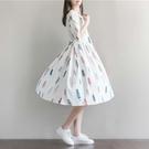 圖片色 棉麻洋裝 2021春夏季寬鬆大碼...
