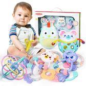 新生嬰兒玩具芽膠手搖鈴可咬水煮3-6-12個月5益智女寶寶男孩0-1歲