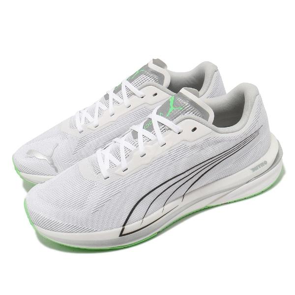 Puma 慢跑鞋 Velocity Nitro CoolAdapt 氮氣科技 白 綠 男鞋 【ACS】 19509401