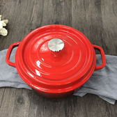 IDEA 琺瑯鑄鐵鍋 小鍋 12.5 湯鍋 母親節 深鍋 淺鍋  燉鍋 圓形