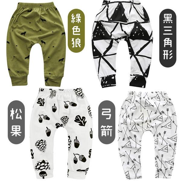 超低折扣NG商品~嬰幼兒長褲 幾何卡通 透氣棉質長褲 寶寶童褲 (SK100-1) 好娃娃