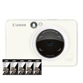 【搭ZINK™相片紙五盒】CANON iNSPiC【S】ZV-123A 珍珠白 可連手機拍可印相機