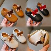 1-3歲小寶寶皮鞋女童鞋韓版兒童單鞋公主鞋軟底中小童豆豆鞋【淘嘟嘟】
