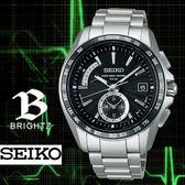 【僾瑪精品】SEIKO BRIGHTZ 星際爭霸 鈦金屬四局電波腕錶-黑x銀/42mm/8B54-0BB0D(SAGA159J)