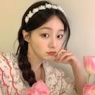髮箍 夏天仙氣超仙珍珠花朵發箍女發飾頭飾頭箍百搭發卡網紅2021年新款 歐歐