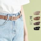 方型扣頭霧面壓紋皮革皮帶-BAi白媽媽【318194】