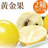 新鮮上市【樂品食尚】自然農法黃金果10斤x2箱(每粒10兩以上,約16~20顆)(免運宅配)