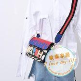 斜挎包女包韓國ulzzang2018新款小方包寬肩帶風斜挎小包百搭單肩包