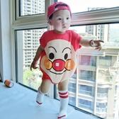 連身衣 新生兒四角哈衣爬服寶寶外出服短袖嬰兒純棉卡通可愛連身衣潮 童趣潮品