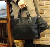 簡約韓版男包潮流男士手提包休閒單肩男電腦商務公文包背包