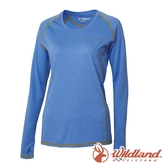 【wildland 荒野】女 圓領雙色抗UV長袖上衣『紫羅蘭』0A61611 T恤 上衣 女版 休閒 戶外 登山