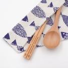 芬多森林|台灣檜木環保筷組-藍色小魚款,...