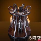 新款花籃木制酒架紅酒架歐式葡萄實木酒架酒杯架倒掛酒柜擺件一次元