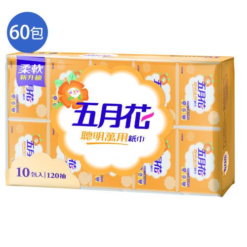 五月花聰明萬用紙巾120抽*60包(箱)【愛買】
