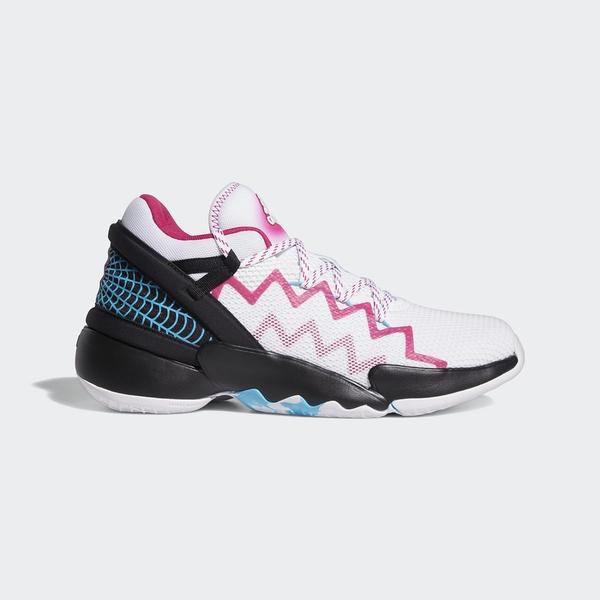 Adidas D.O.N. Issue 2 GCA 男款白粉黑三色運動籃球鞋 FZ1432
