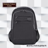 【Roberta Colum】諾貝達 百貨專櫃 男仕多功能防潑水後背包(PX505-1 黑色)【威奇包仔通】