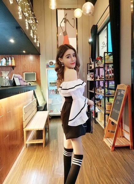 2018夏季新款韓版一字領露肩荷葉邊喇叭袖上衣高腰闊腿短褲套裝女