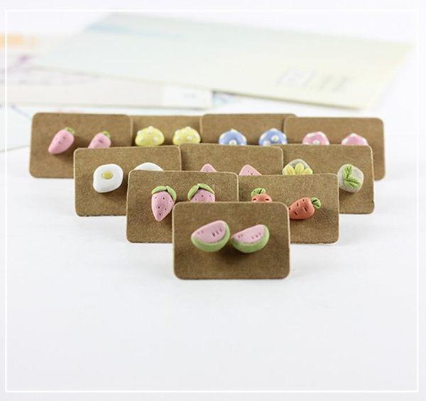 Star 陶藝系列 -甜美小清新彩泥耳釘 -D3539