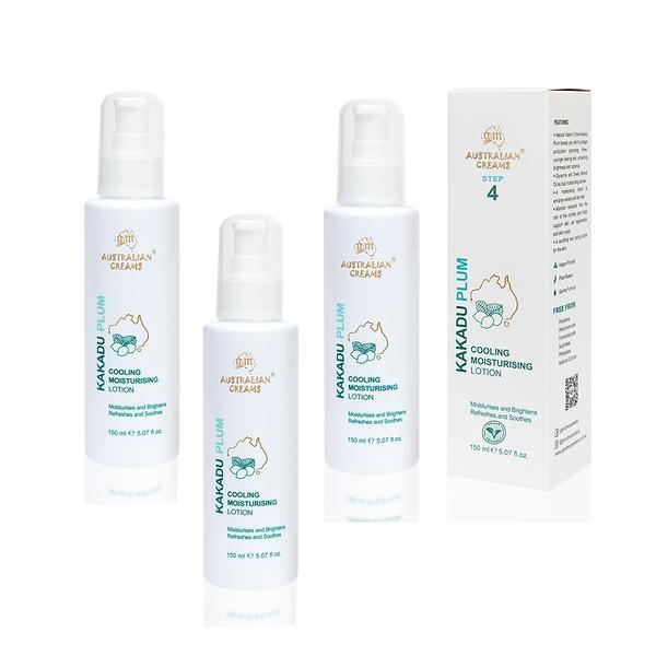 【澳洲G&M-KAKADU PLUM】專業級系列-卡卡度涼感潤膚乳液-3入組 150ml/瓶