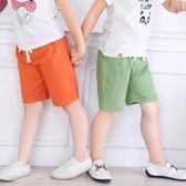 兒童短褲夏薄款寶寶2018夏裝童裝棉五分褲子男童中褲女童沙灘褲『新佰數位屋』