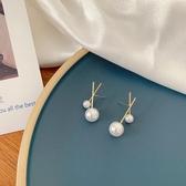 珍珠純銀針耳飾品女