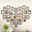 客廳心形照片牆裝飾相框牆 免打孔臥室房間背景相冊框 【店長推薦】  快速出貨