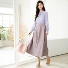 早春[H2O]吊帶可拆大波浪吊帶裙洋裝 - 黑/卡/粉色 #1674003