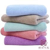 珊瑚絨毛巾情侶素色毛巾加厚柔軟吸水高密切邊【櫻田川島】