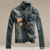 秋冬季日系韓版修身牛仔外套男士帥氣夾克個性褂子學生牛仔衣潮流『潮流世家』