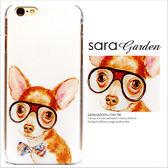 24H 客製手繪眼鏡格子啾啾吉娃娃iPhone 6 6S Plus 5 5S 手機殼荔枝紋