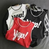 球衣女背心女夏外穿寬鬆籃球原宿bf風長款學生內搭小吊帶上衣 無袖t恤女 衣間迷你屋