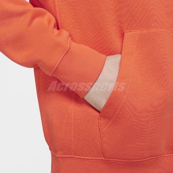 Nike 長袖T恤 NSW Club Fleece Pullover Hoodie 橘 白 男款 帽T 運動休閒 【ACS】 BV2974-837