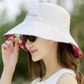 【優選】士太陽帽戶外防曬帶鋼圈遮陽可折疊布帽子
