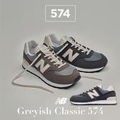 New Balance 休閒鞋 574 深藍 米白 麂皮 復古 男鞋 女鞋 情侶款 經典配色 NB 【ACS】 ML574SYPD