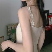 春夏新款氣質杏色針織吊帶背心連身裙甜美內搭無袖中長款百褶裙子 雙11提前購