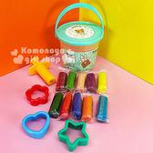 〔小禮堂〕懶懶熊 10色桶裝黏土玩具《綠蓋.太空裝.星球》內附造型壓模 4718733-20345