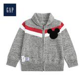 Gap男幼童Disney迪士尼系列米奇拉鏈針織衫489482-淺石楠灰
