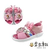 【樂樂童鞋】台灣製蘇菲亞公主電燈涼鞋 F058 - 女童鞋 涼鞋 電燈鞋 大童鞋 現貨 沙灘鞋 燈鞋