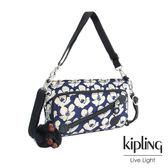 Kipling 夏日時光花卉印花手提側背包-小