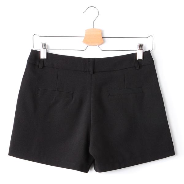 【MASTINA】打褶西裝短褲-黑 秋冬嚴選