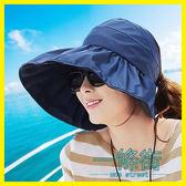 聖誕享好禮 帽子女夏遮陽帽夏天女士潮防紫外線大沿沙灘太陽帽防曬可折疊涼帽