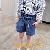 女童裝短褲2018春新款寶寶兒童牛仔短褲