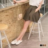 OrangeBear《CA1013》後腰鬆緊打褶設計純色傘襬褲裙.3色--適 2L~6L